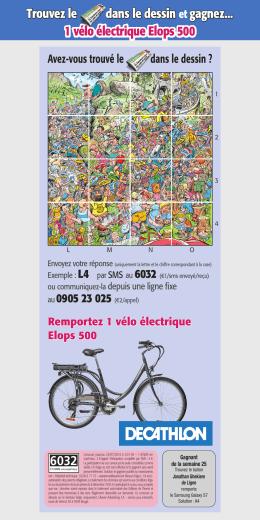 Trouvez le dans le dessin et gagnez... 1 vélo électrique