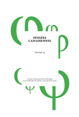 Pensées Canadiennes Vol. 14