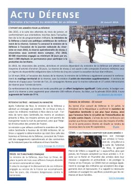 Actu Défense - Ministère de la Défense