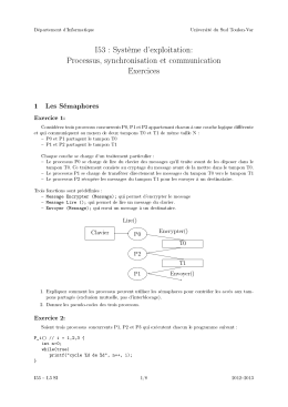 I53 : Système d`exploitation: Processus