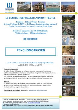 psychomotricien(ne) - Centre Hospitalier Lannion