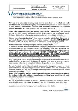 Consultation du serveur de résultats (format PDF)