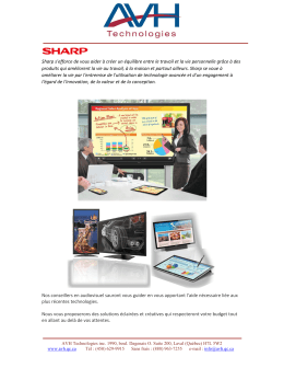 Sharp - AVH Technologies