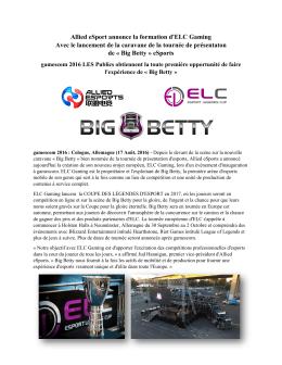 Big Betty - ELC Gaming