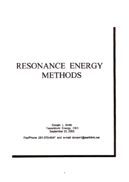 Resonance energy methods