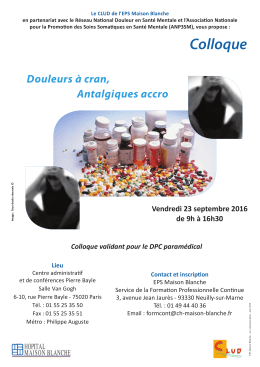 pre programme CLUD 23 septembre - Association Nationale pour la