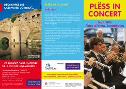 concerts placearmes aout - Luxembourg City Tourist Office