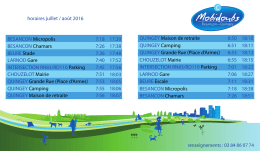 Horaires + Parcours + Renseignements