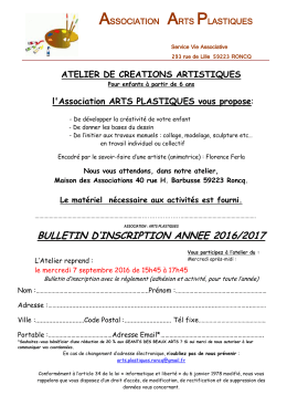 bulletin d`inscription annee 2016/2017
