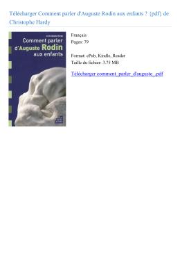 Comment parler d`Auguste Rodin aux enfants