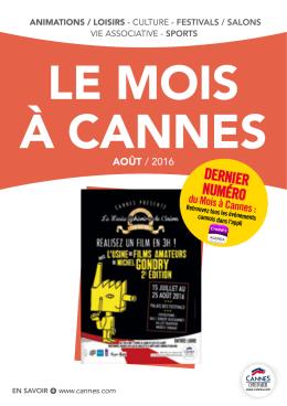 Le mois à Cannes
