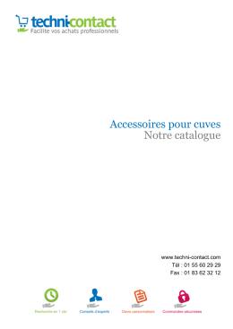 Accessoires pour cuves Notre catalogue - Techni