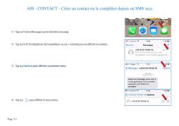 A08 - CONTACT - Créer un contact ou le compléter depuis un SMS