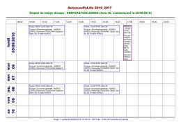 Ouvrir l`emploi du temps PDF
