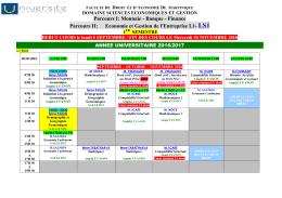 Emploi du temps économie et gestion du 5 au 10 septembre 2016