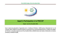 Pré-COP22 Oujda, 23 et 24 Juillet 2016
