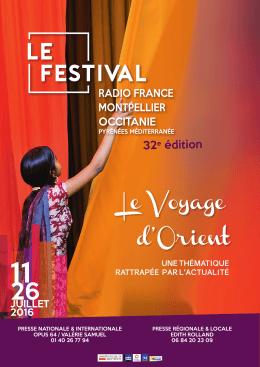 Consulter le Bilan - Festival de Radio France et Montpellier