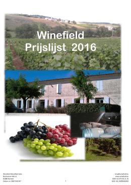 Winefield Prijslijst 2016