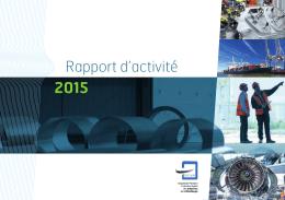 Rapport d`activité 2015