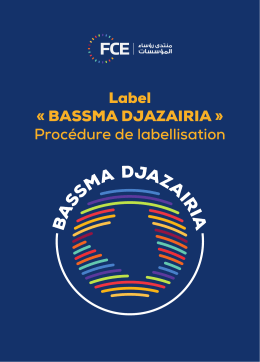 Label « BASSMA DJAZAIRIA » Procédure de labellisation
