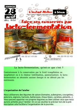 La lacto-fermentation, qu`est