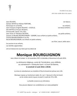 Monique BOURGUIGNON