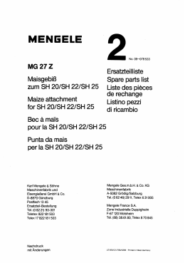 Ersatzteilliste Spare parts list zum SH 201SH 221SH 25 Liste