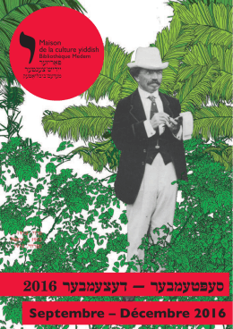 Brochure de septembre à décembre 2016