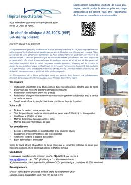 Télécharger le PDF - Hôpital neuchâtelois