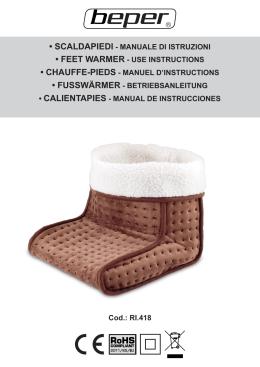 scaldapiedi - manuale di istruzioni • feet warmer - use