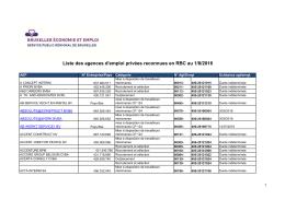 Liste des agences d`emploi privées