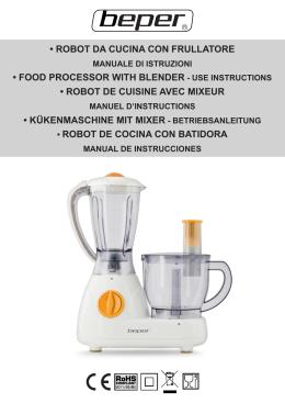 robot da cucina con frullatore • food processor with blender