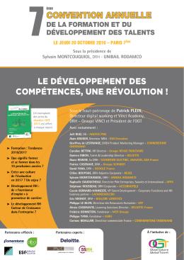 convention annuelle le développement des compétences, une