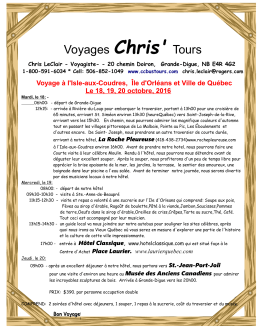 Voyages Chris` Tours