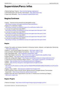 Supervision/Parcs infos - Documentations GNU/Linux