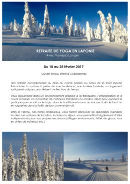 Programme Yoga en Laponie 2