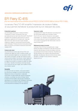 Konica Minolta Fiery IC-415 – Fiche technique FR