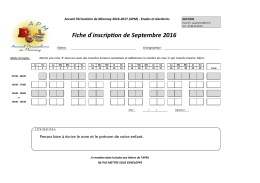 Fiche d ́inscription de Septembre 2016