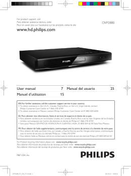 Philips DVP2880 User Guide Manual
