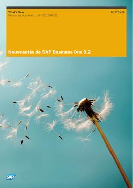 Nouveautés de SAP Business One 9.2