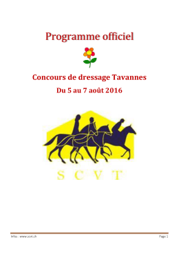 Programme officiel - Société de cavalerie