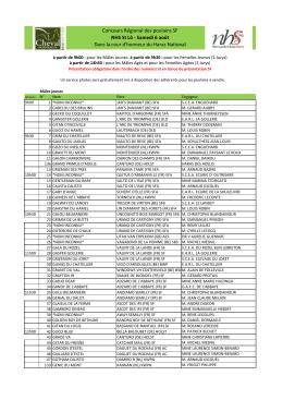 Concours Régional des poulains SF NHS St Lô