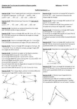 Chapitres de 6e sur les axes de symétrie et figures - No