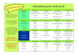 planning activités Boit anim aout 2016