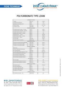 Polycarbonate LEXAN