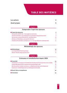 table des matières - Editions Ellipses