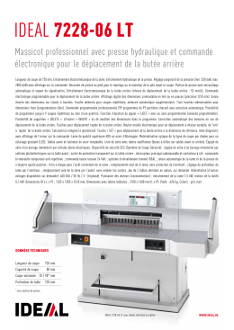 Massicot IDEAL 7228-06 LT, PDF fiche technique