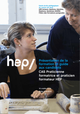 Guide aux candidats 2016 - Portail candidat HEP VAUD