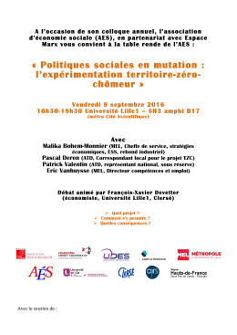 Affiche Table ronde AES