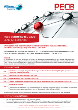 pecb certified iso 22301 lead implementer